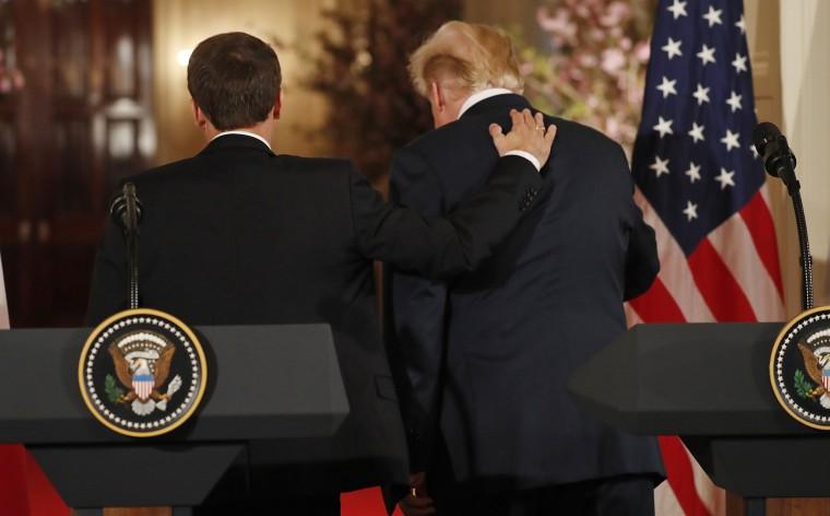 Image: Trump and Macron