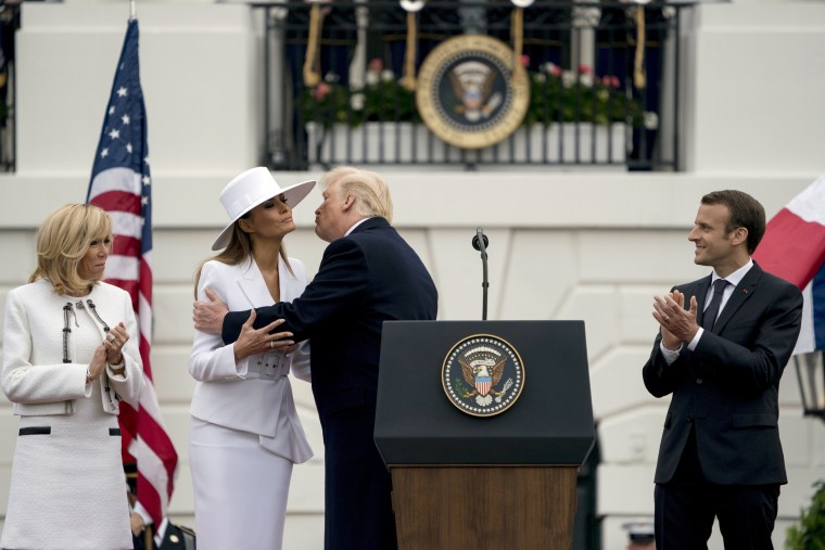 Image: Donald Trump, Melania Trump, Emmanuel Macron, Brigitte Macron