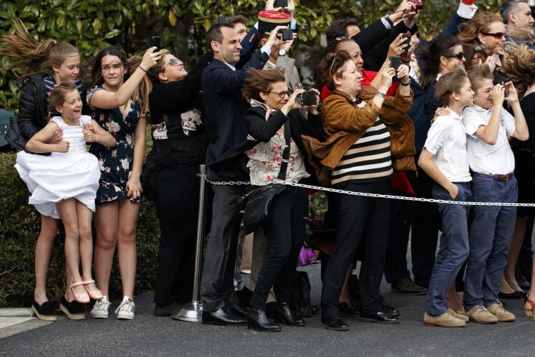Image: Donald Trump, Emmanuel Macron, Melania Trump, Brigitte Macron