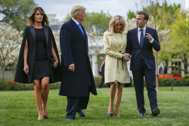Image: US President Donald J. Trump hosts French President Emmanuel Macron