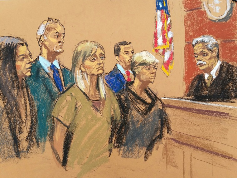 Image: Allison Mack stands for trial in the U.S. District Court in Brooklyn on April 24, 2018.