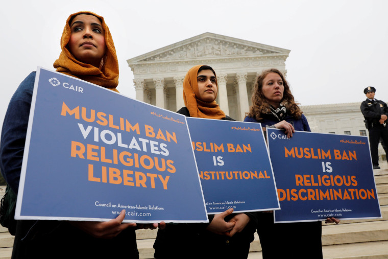 Image: Protesters gather outside the U.S. Supreme Court in Washington