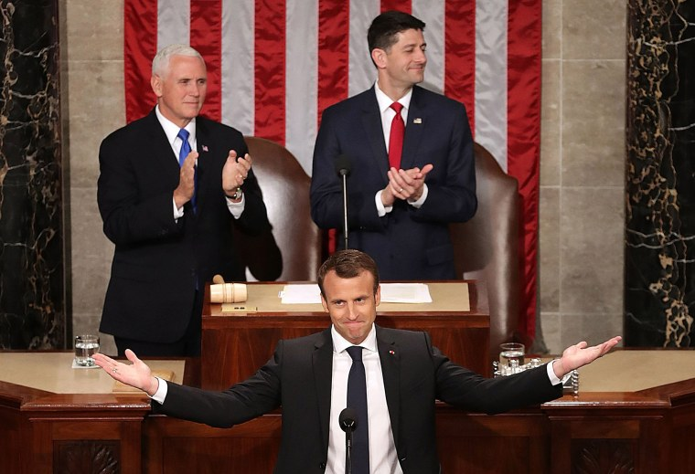 Image: French President Emmanuel Macron Delivers An Address To Joint Meeting Of Congress