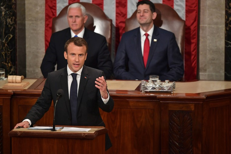 Image: US-FRANCE-DIPLOMACY-MACRON-CONGRESS
