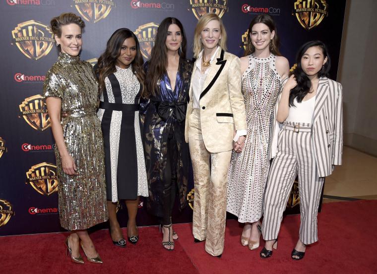 Image: Sarah Paulson, Mindy Kaling, Sandra Bullock, Cate Blanchett, Anne Hathaway, Awkwafina
