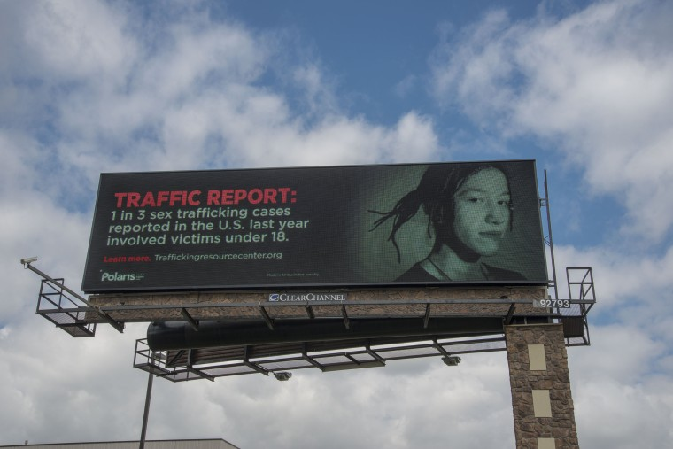 Image: The National Human Trafficking Resource Centers billboard