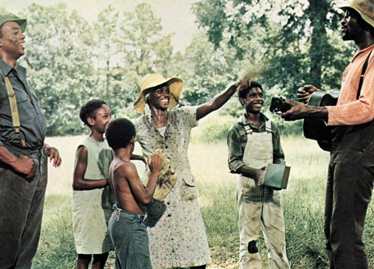 Image: Film still from the movie Sounder, with Paul Winfield, Yvonne Jarrell, Eric Hooks, Cicely Tyson, Kevin Hooks, Taj Mahal in 1972.