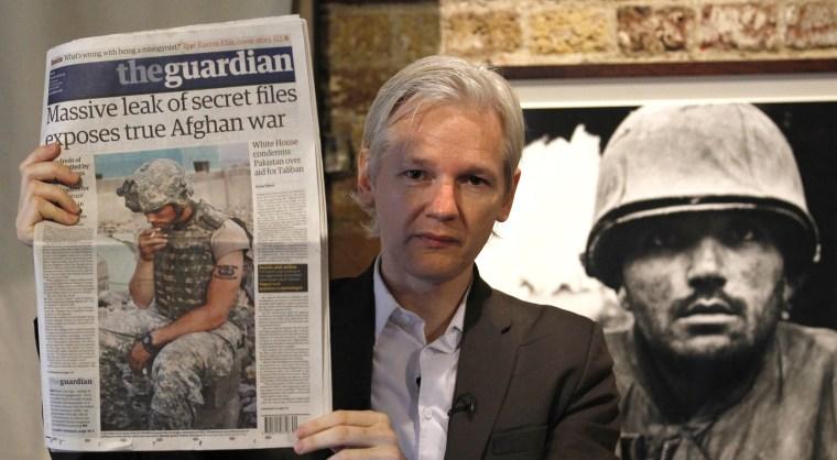 Image: Wikileaks founder Julian Assange
