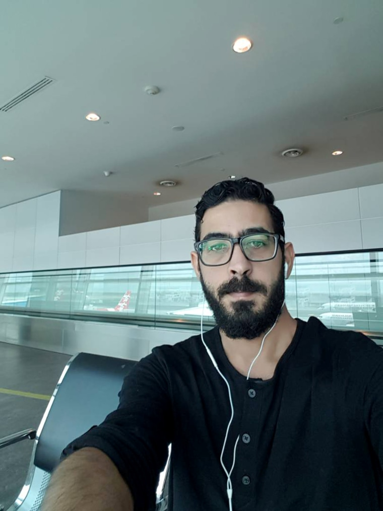 Image: Hassan Al Kontar has been stuck at an airport in Kuala Lumpur, Malaysia for 59 days.