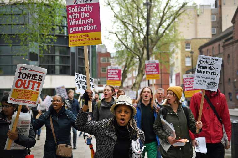 Image: Windrush generation solidarity protest