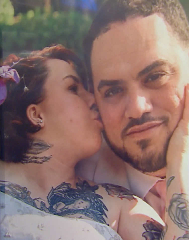 Michelle Knight, now Lily Rose Lee, and Miguel, her husband