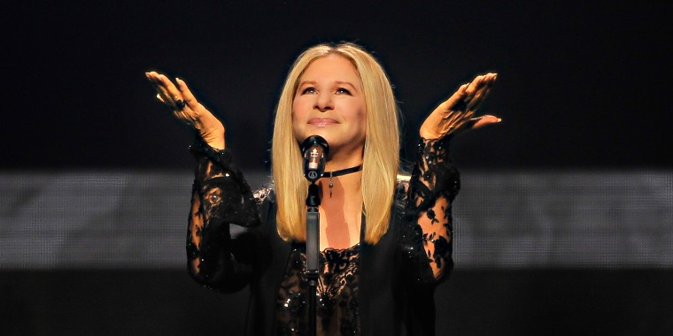 No nail extensions for Barbra Streisand!