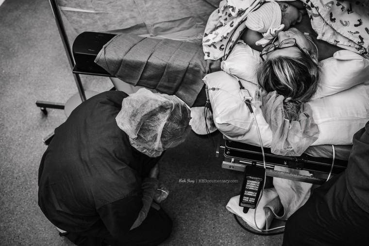 Nanasi says her birth photos, taken by Texas photographer Kourtnie Scholz, remind her of the strength and beauty she experienced during her labor and delivery.