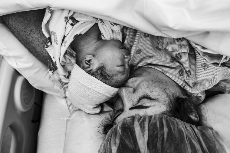"""Rachel Castillo Waxahachie says the moment she saw her son after her C-section was """"happiest moment in my life ever."""""""