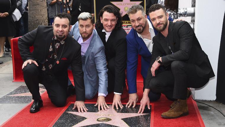 Image: Chris Kirkpatrick, Lance Bass, JC Chasez, Joey Fatone, Justin Timberlake