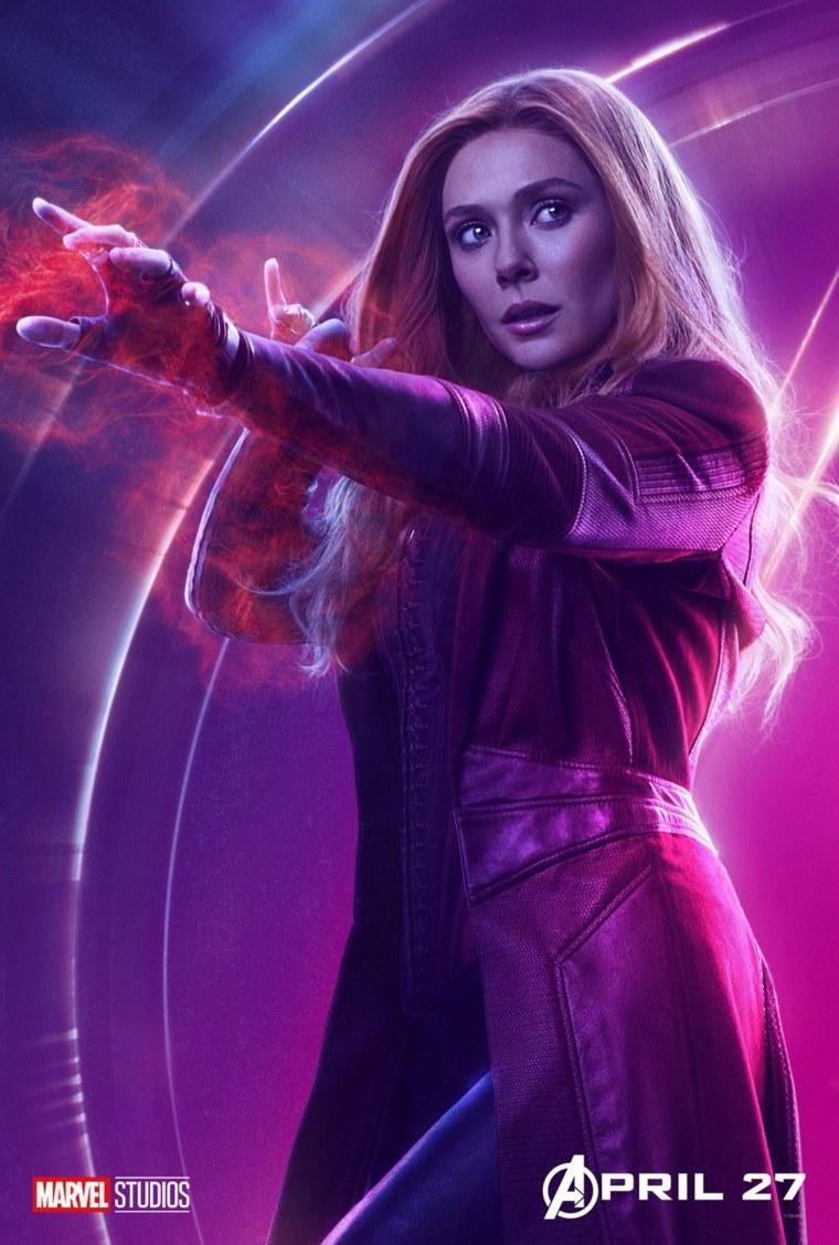 """Elizabeth Olsen as Scarlet Witch in """"Avengers: Infinity War"""""""