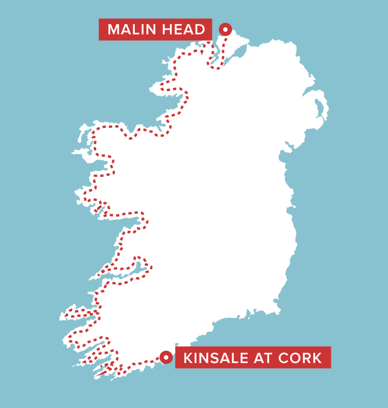 Spade will hope to run from Malin Head to Kinsale in Cork in 38 days or less.