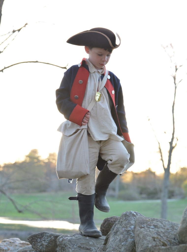 Oliver Theibault-Dean loves the American Revolution. His mom, Jenna Dean, sews period costumes for her son.