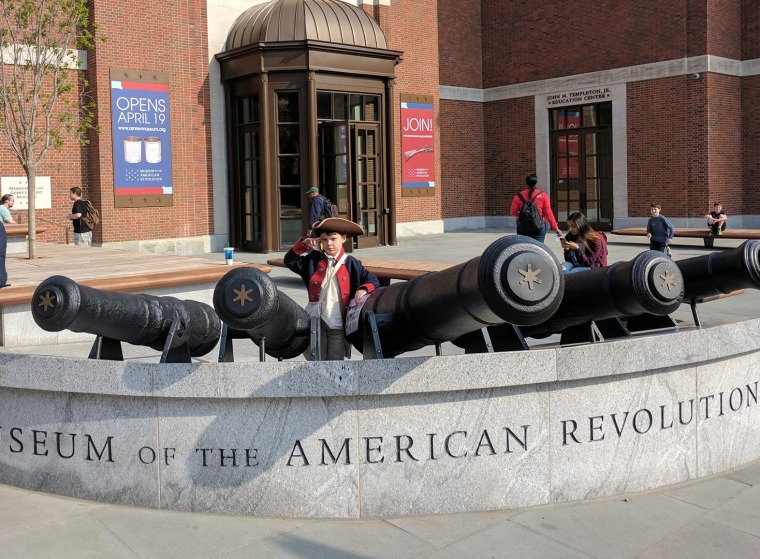 Oliver at the Museum of the American Revolution.