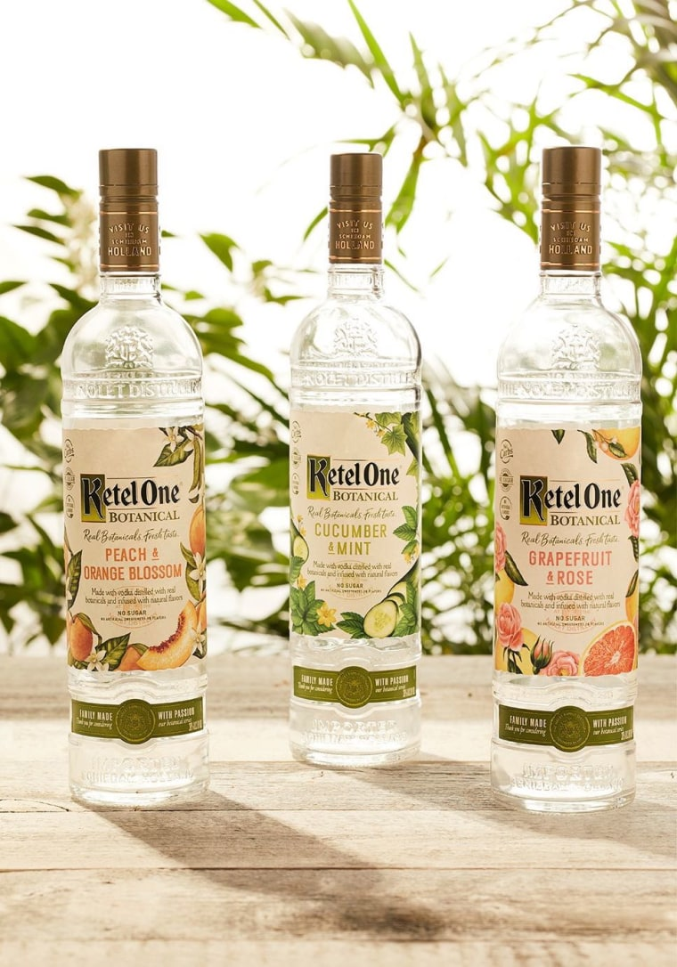 Diet vodka from Ketel One has fewer calories