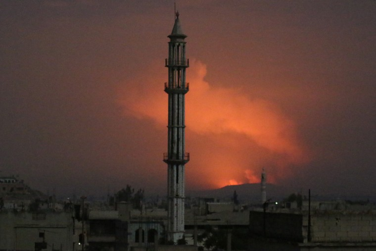 Rockets hit Assad regime's military positions in Syria