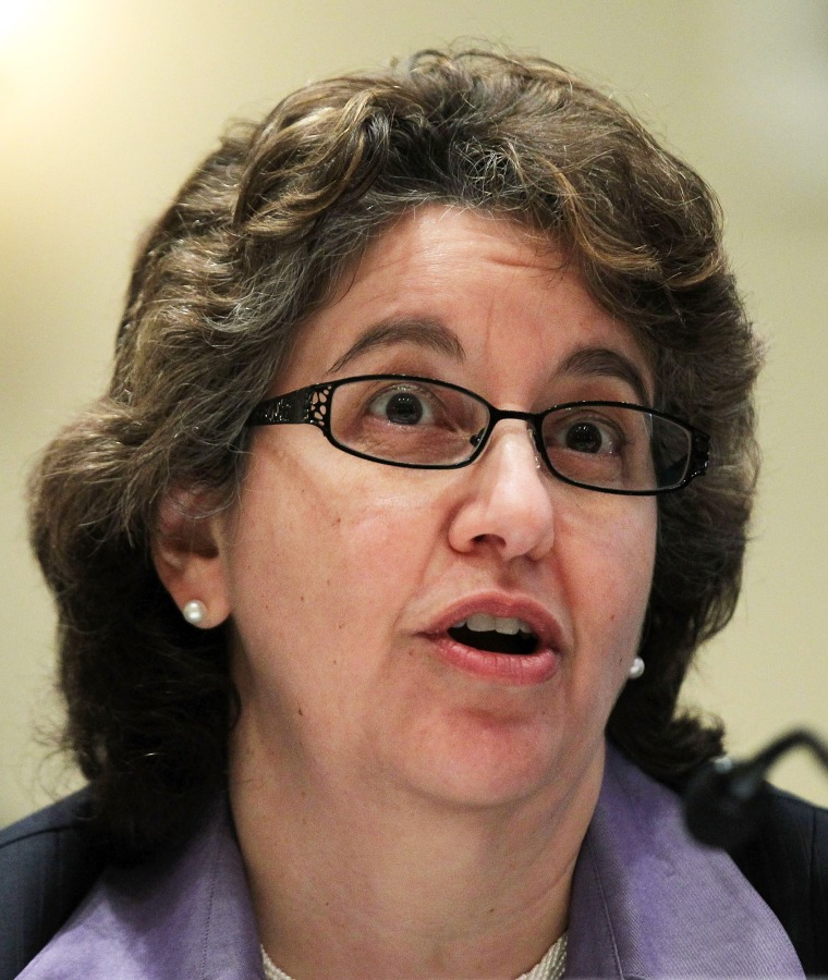 Image: Federal Election Commission's Ellen Weintraub testifies during a hearing