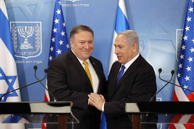 Image: Benjamin Netanyahu and Mike Pompeo