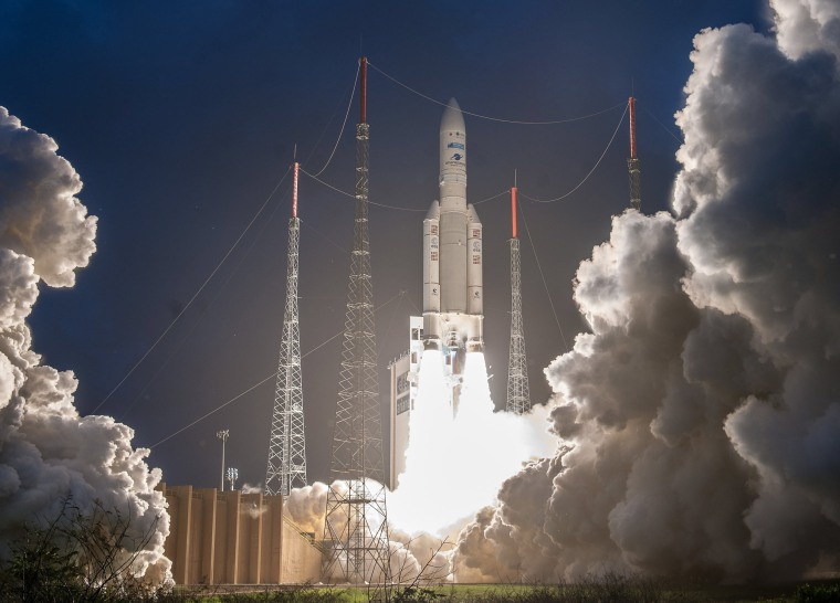 Image: Ariane 5 launch from CSG in Kourou