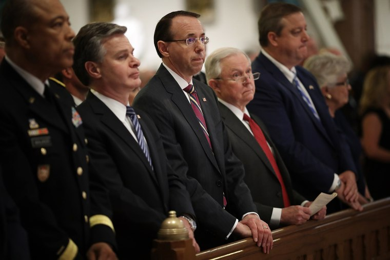 "Image: Rod Rosenstein attend the annual ""Blue Mass"""