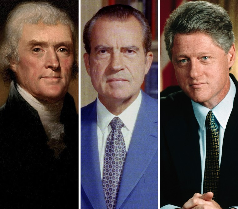 Image: Thomas Jefferson, Richard Nixon, Bill Clinton