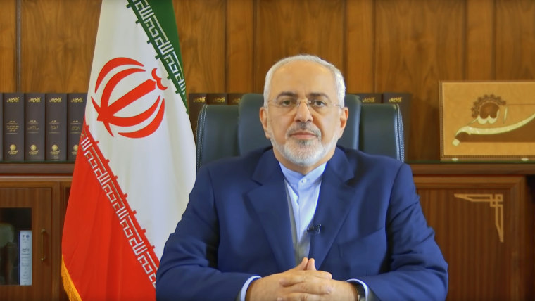 Image: Iranian Foreign Minister Mohammad Javad Zarif speaks about the Iranian nuclear agreement