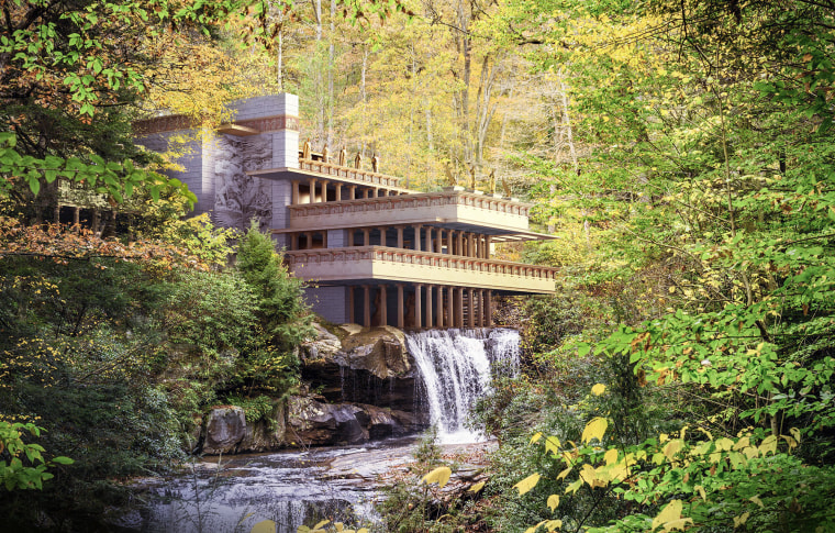 Image: Fallingwater in Classical style