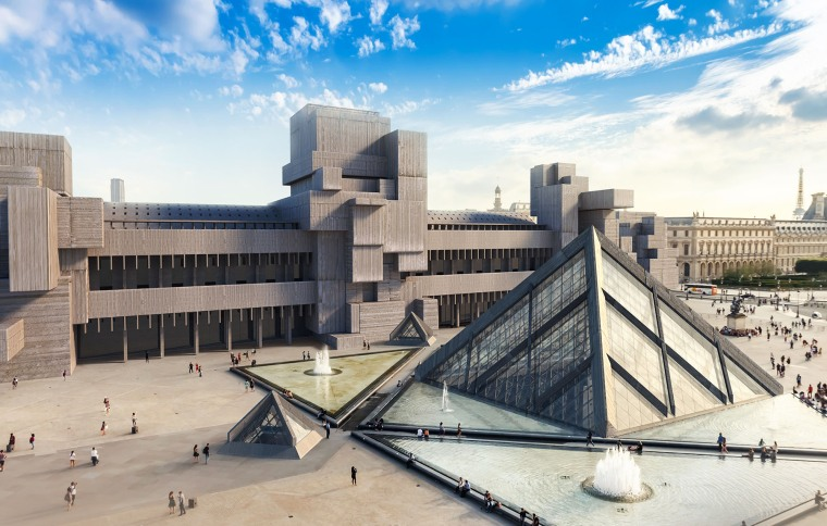 Image: The Louvre in Brutalist style