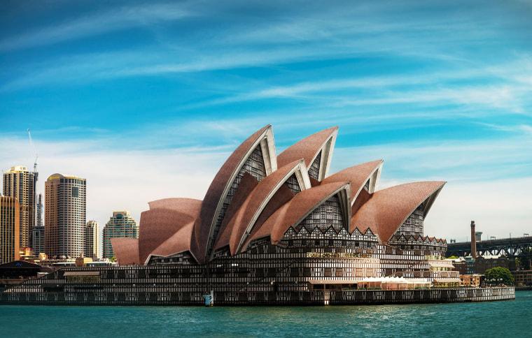 Image: Sydney Opera House in Tudor style