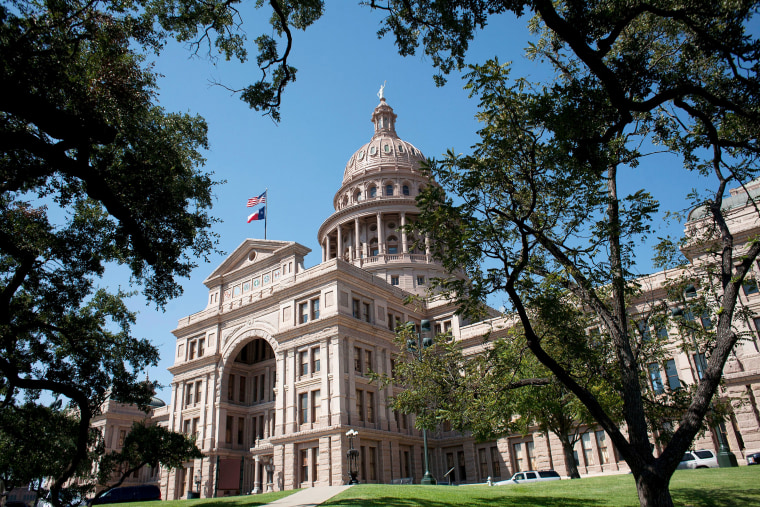 Image: FILE PHOTO: The Texas capitol building, crafted from pink granite in Austin, Texas