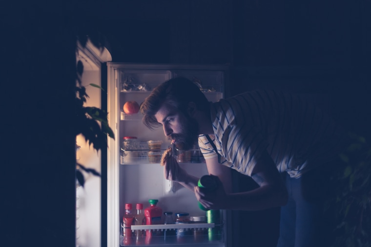 Image: Nightime Snacking At Fridge