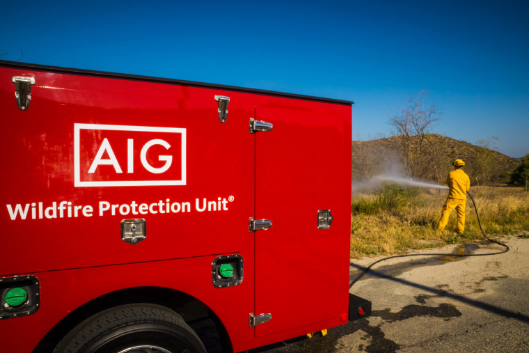 An undated photo of a Wildfire Protection Unit truck during a demo near San Diego.