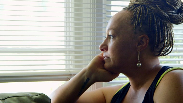 "Image: Rachel Dolezal apart of her documentary ""The Rachel Divide"" on Netflix."