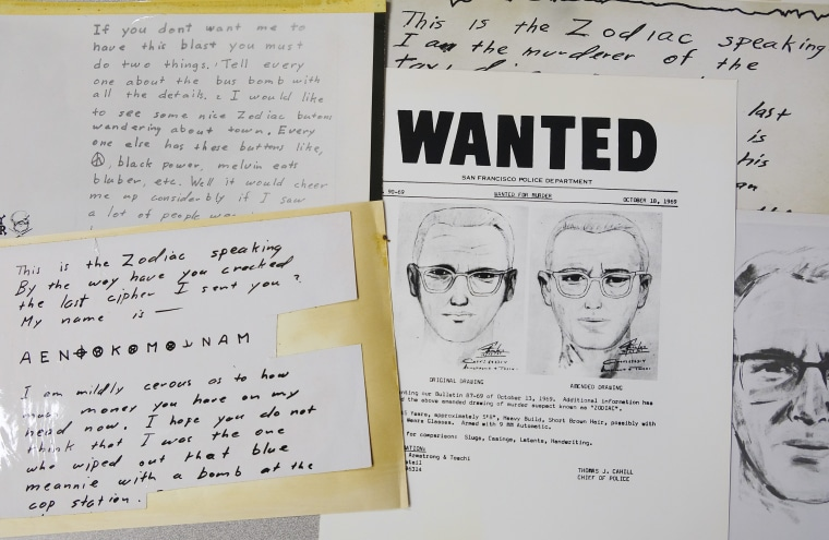 Image: Documents related the Zodiac killer case