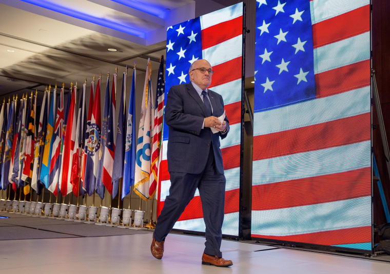 Image: President Trump's Newly Appointed Lawyer Rudy Giuliani Speaks At Conference On Iran
