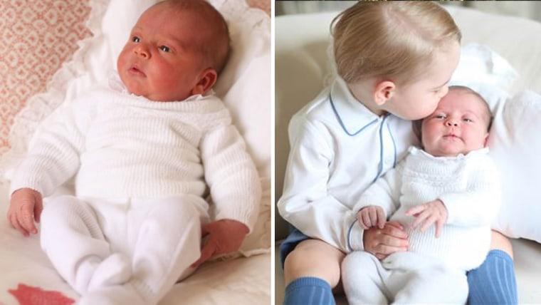 Prince Louis and Prince George with Princess Charlotte