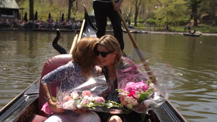 Savannah and Hoda share a bond of coming to motherhood later in life than most; Savannah was 42 and Hoda was 52.