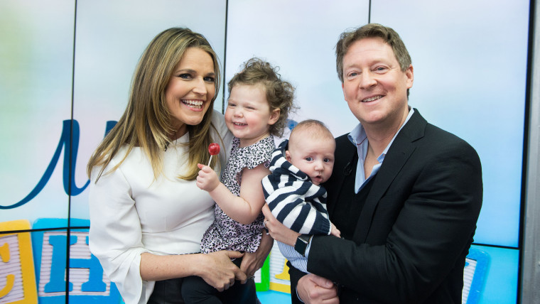 Savannah Guthrie with her family in the Orange Room.