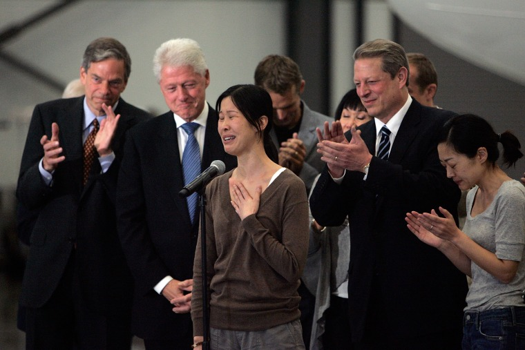 Laura Ling and Euna Lee speak after released from North Korea in 2009.
