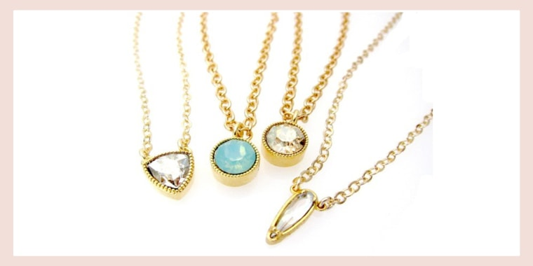 Jessica Elliot Layering Pendants with Genuine Swarovski Crystal