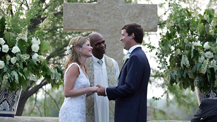 Jenna and Henry exchanged vows on May 10, 2008, at Prairie Chapel Ranch near Crawford, Texas.