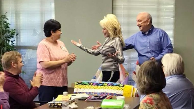 Surprise! Dolly Parton showed up at a renaming of a senior center in Tennessee to the delight of a group of local senior citizens.