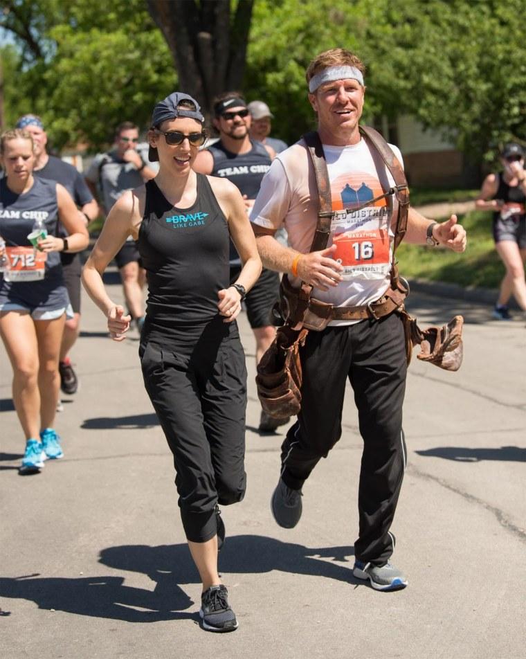 Chip Gaines running the Silo District Marathon