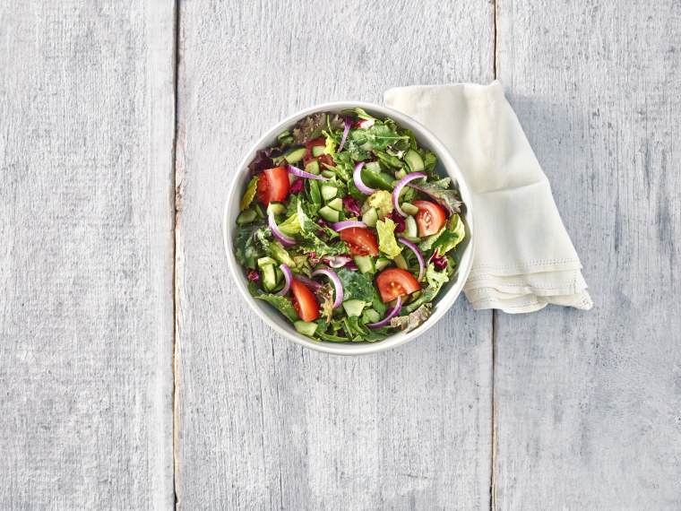 Panera seasonal greens salad
