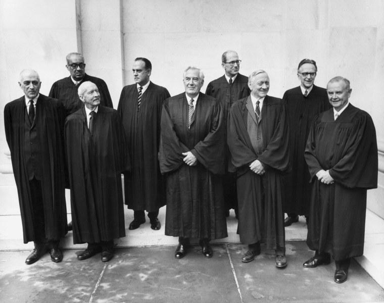 Image: SCOTUS Court Justices, 1970